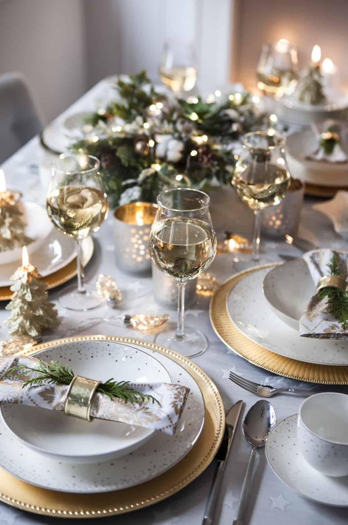 Cómo presentar una mesa de Navidad perfecta 3