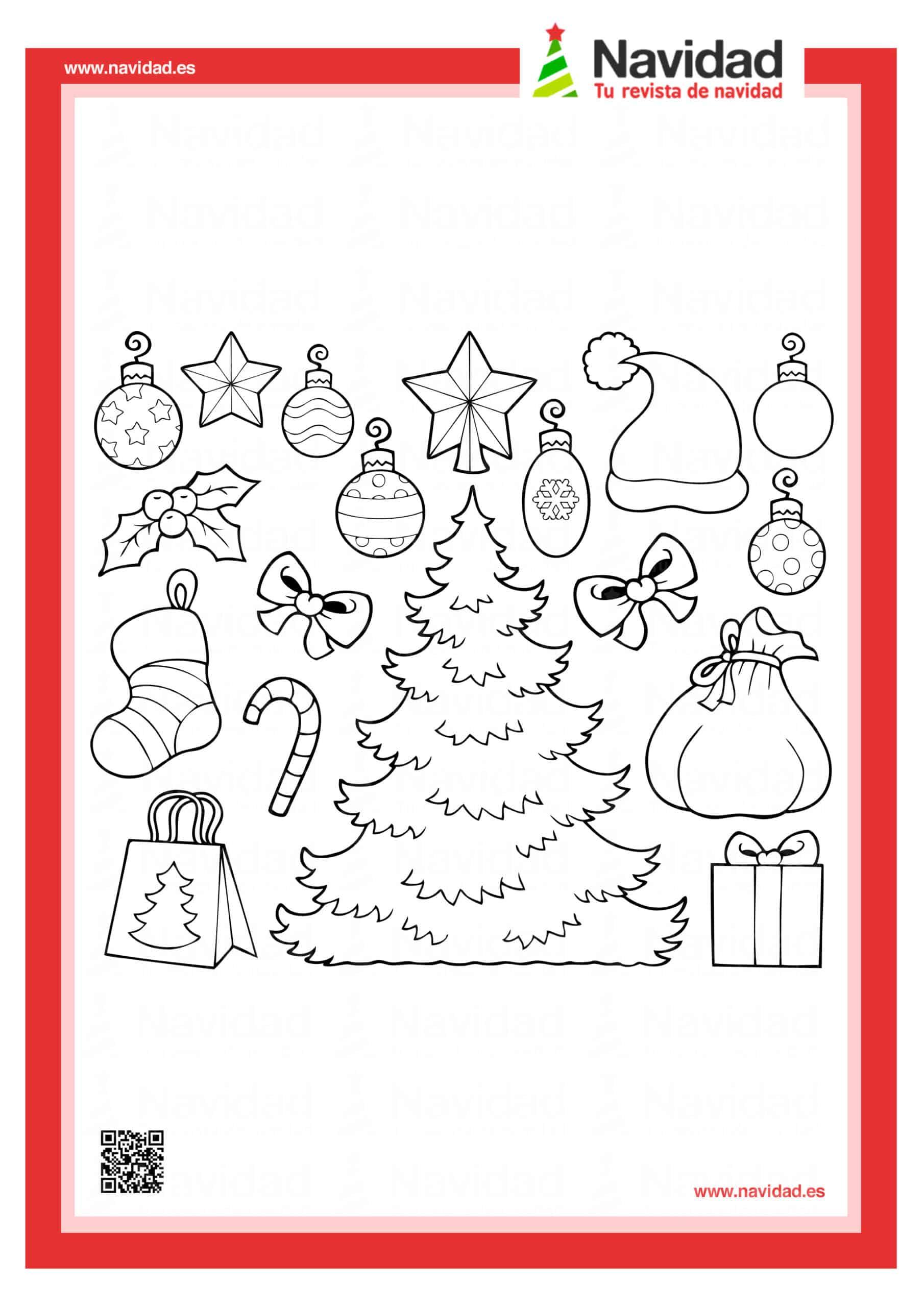 Dibujos navideños para colorear con los hijos esta Navidad 10