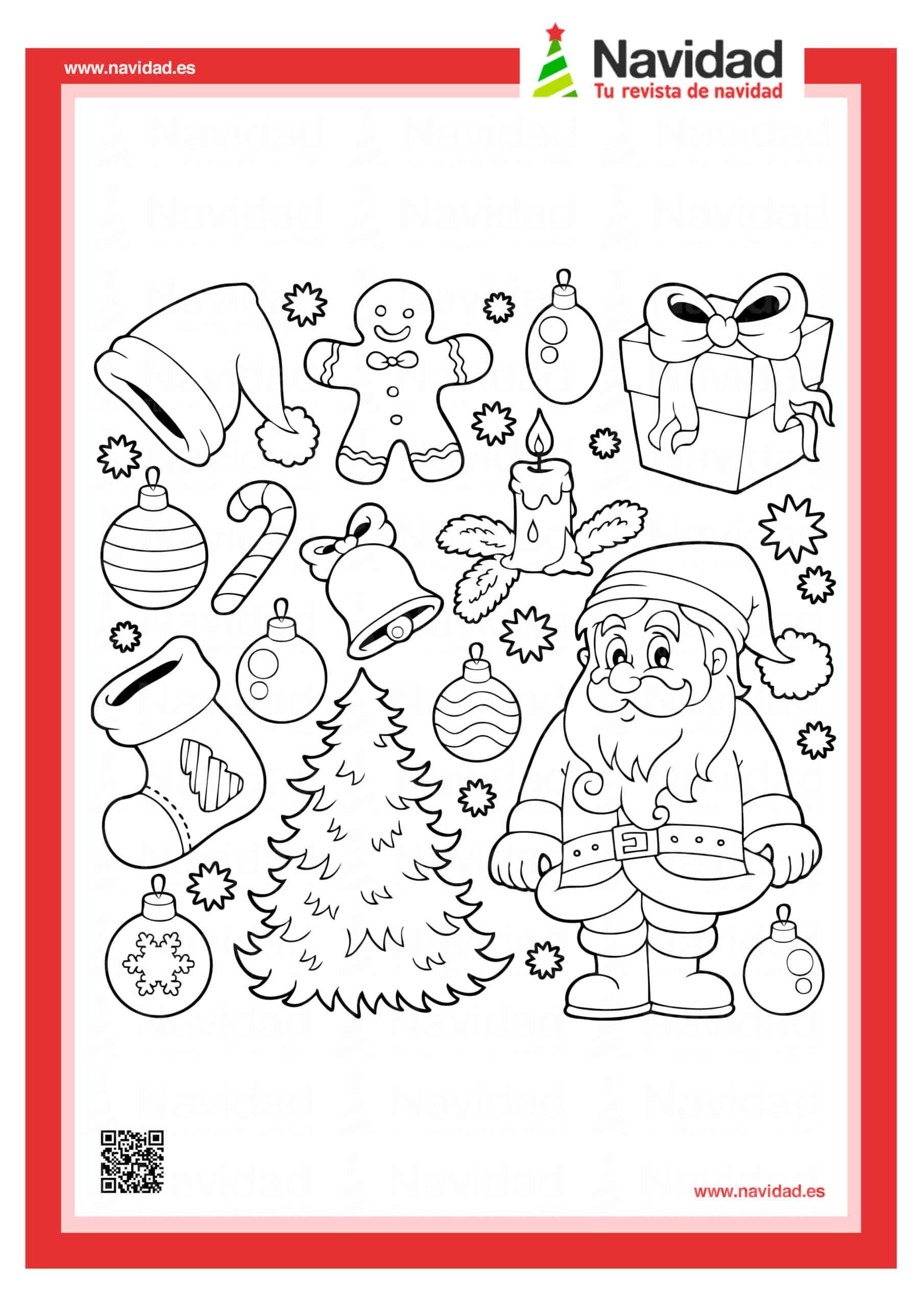 10 dibujos de Papá Noel para colorear con los más pequeños de la casa 1