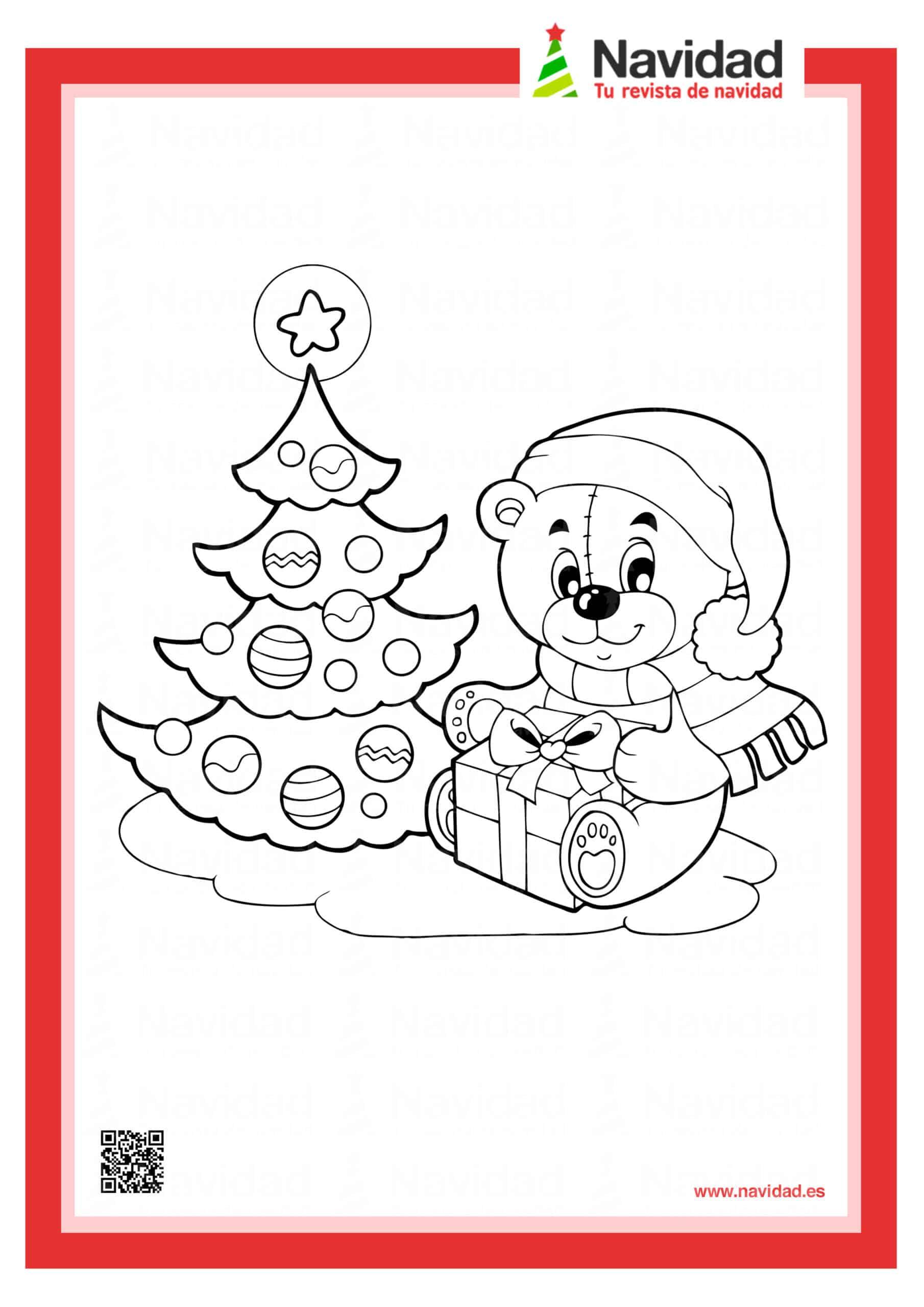 Dibujos navideños para colorear con los hijos esta Navidad 11