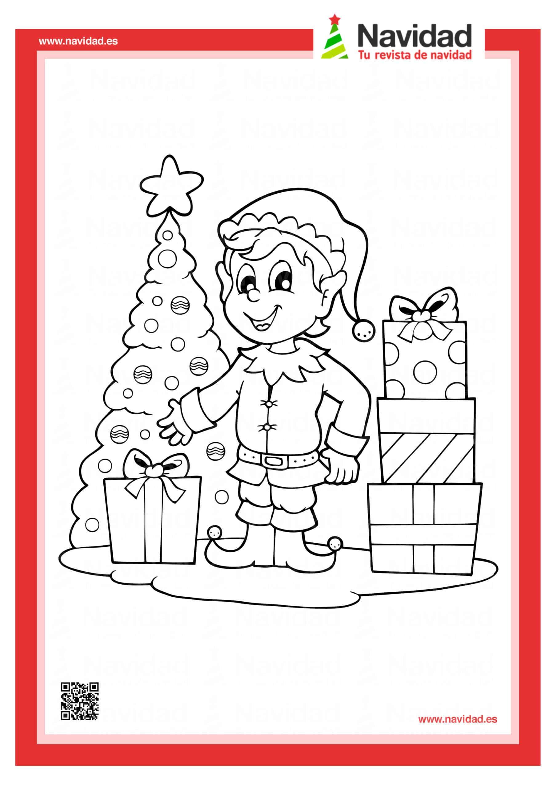 Dibujos navideños para colorear con los hijos esta Navidad 12