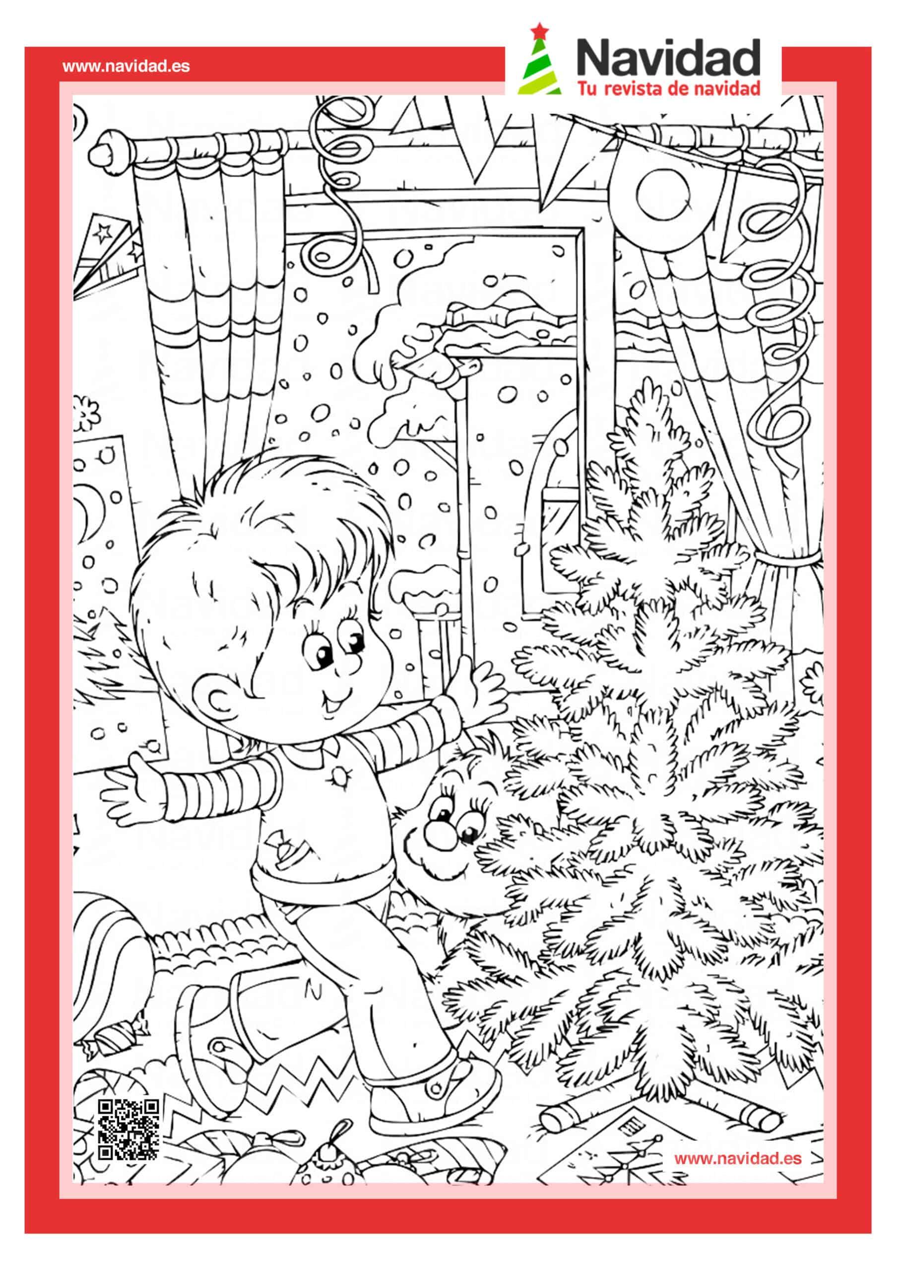 Dibujos navideños para colorear con los hijos esta Navidad 13
