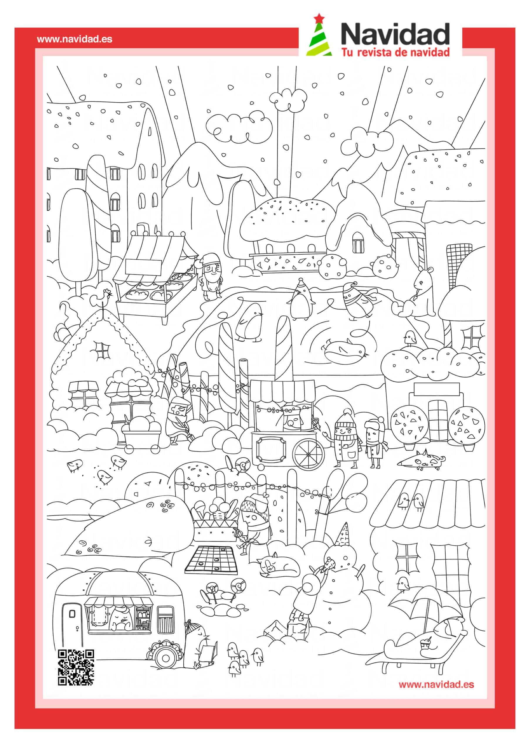 Dibujos navideños para colorear con los hijos esta Navidad 14