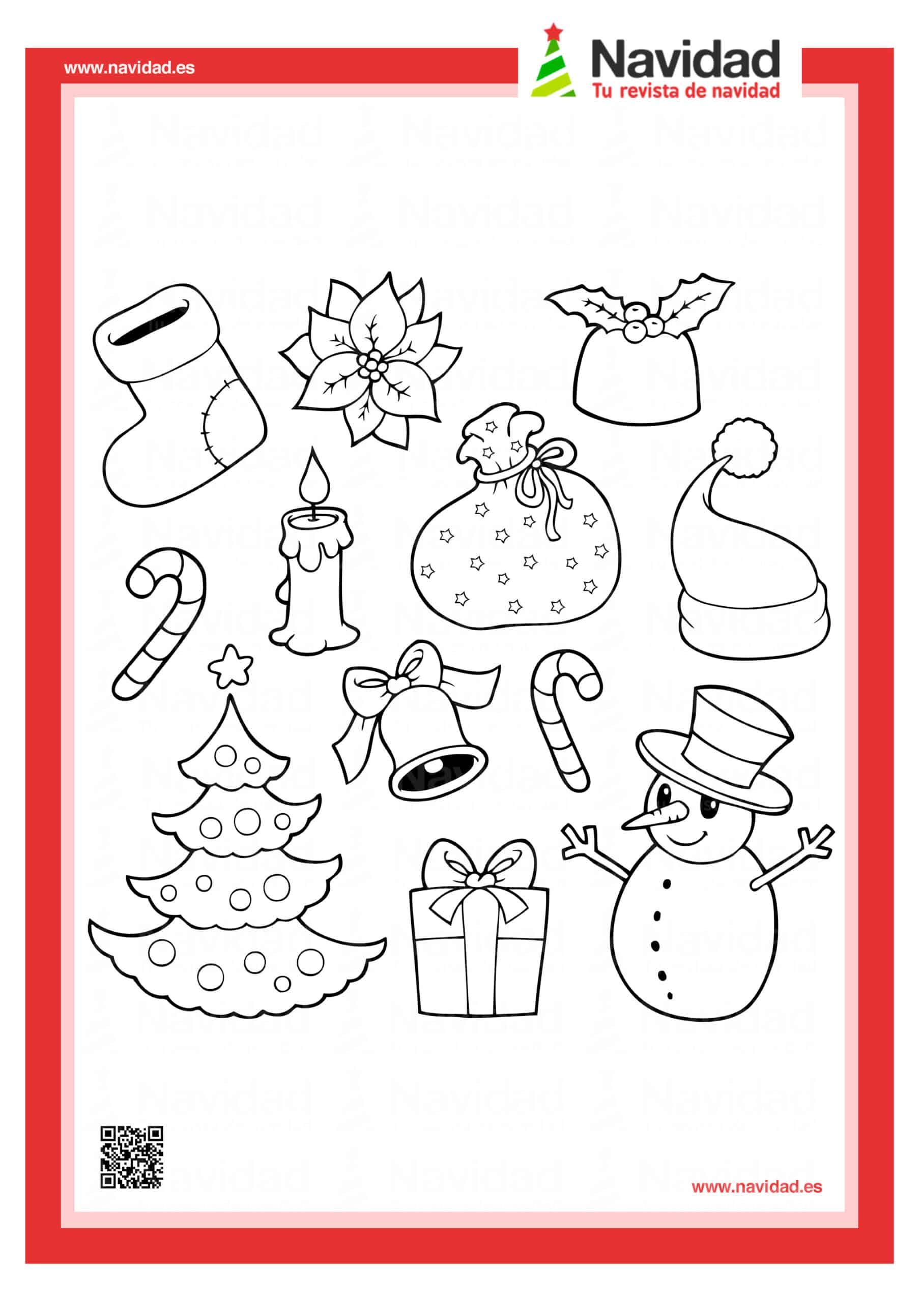 Dibujos navideños para colorear con los hijos esta Navidad 15
