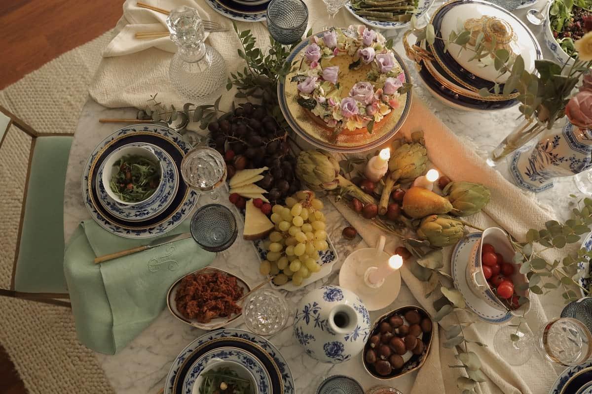 comida navideña con amigas