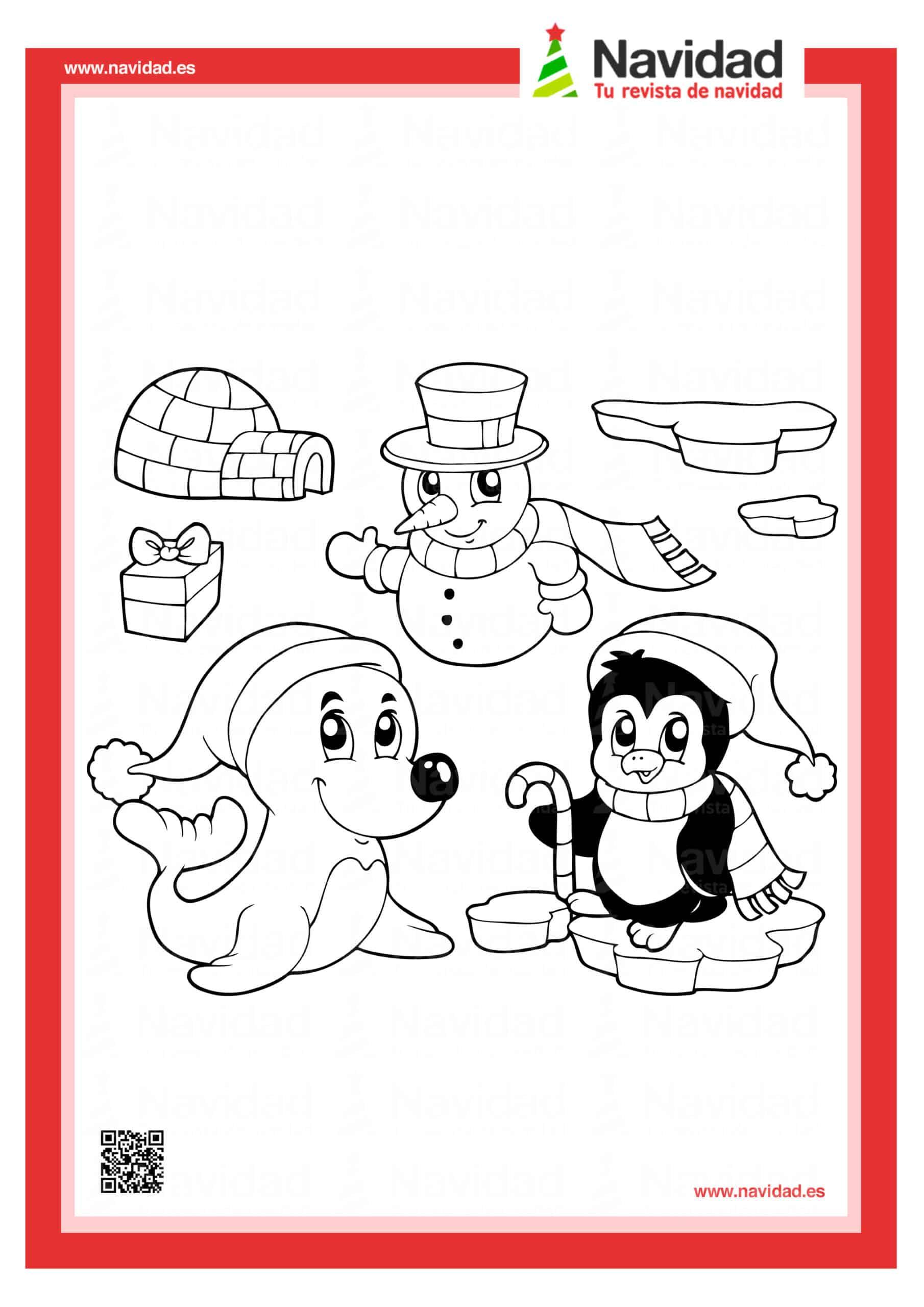 Dibujos navideños para colorear con los hijos