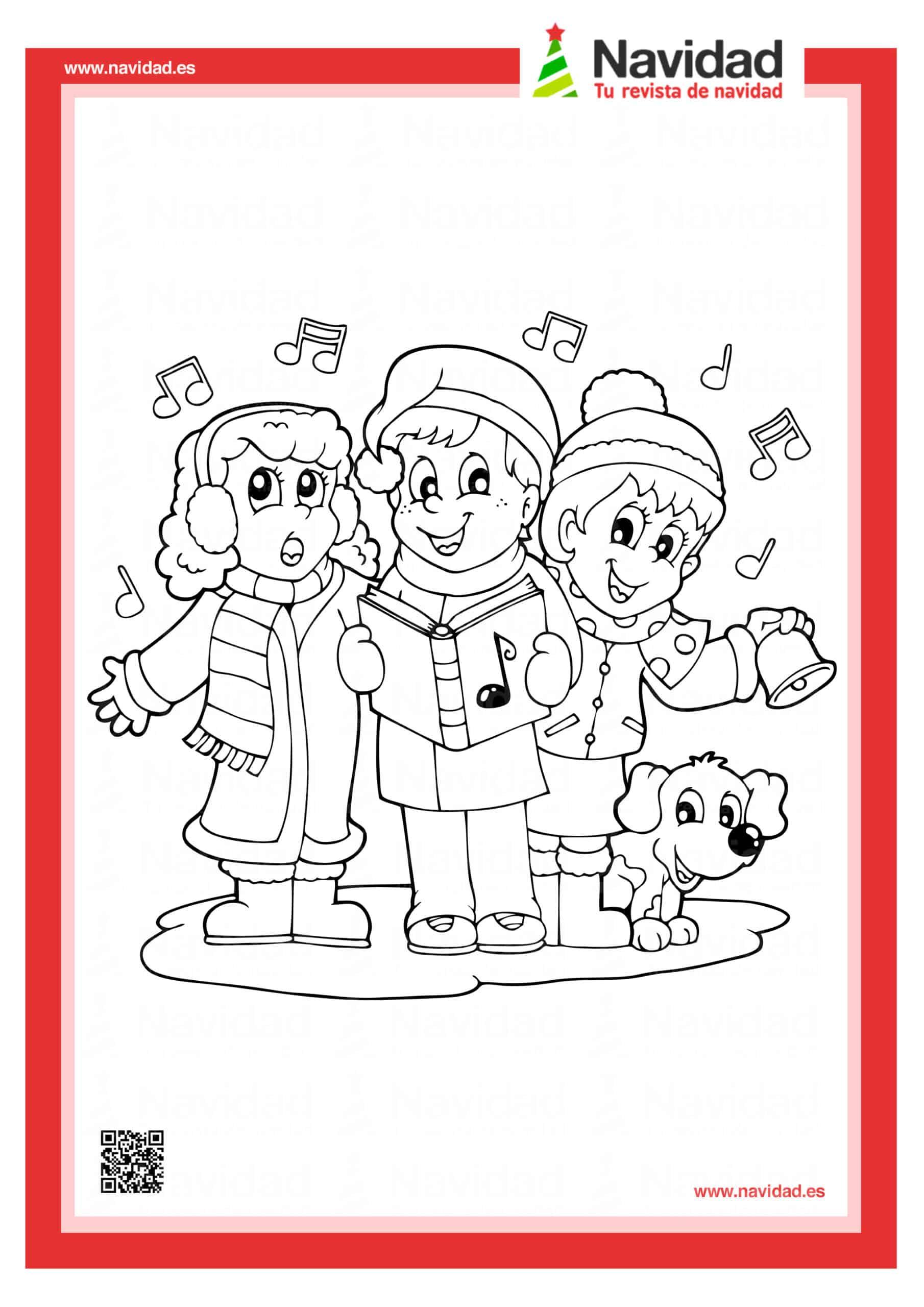 Dibujos navideños para colorear con los hijos esta Navidad 9