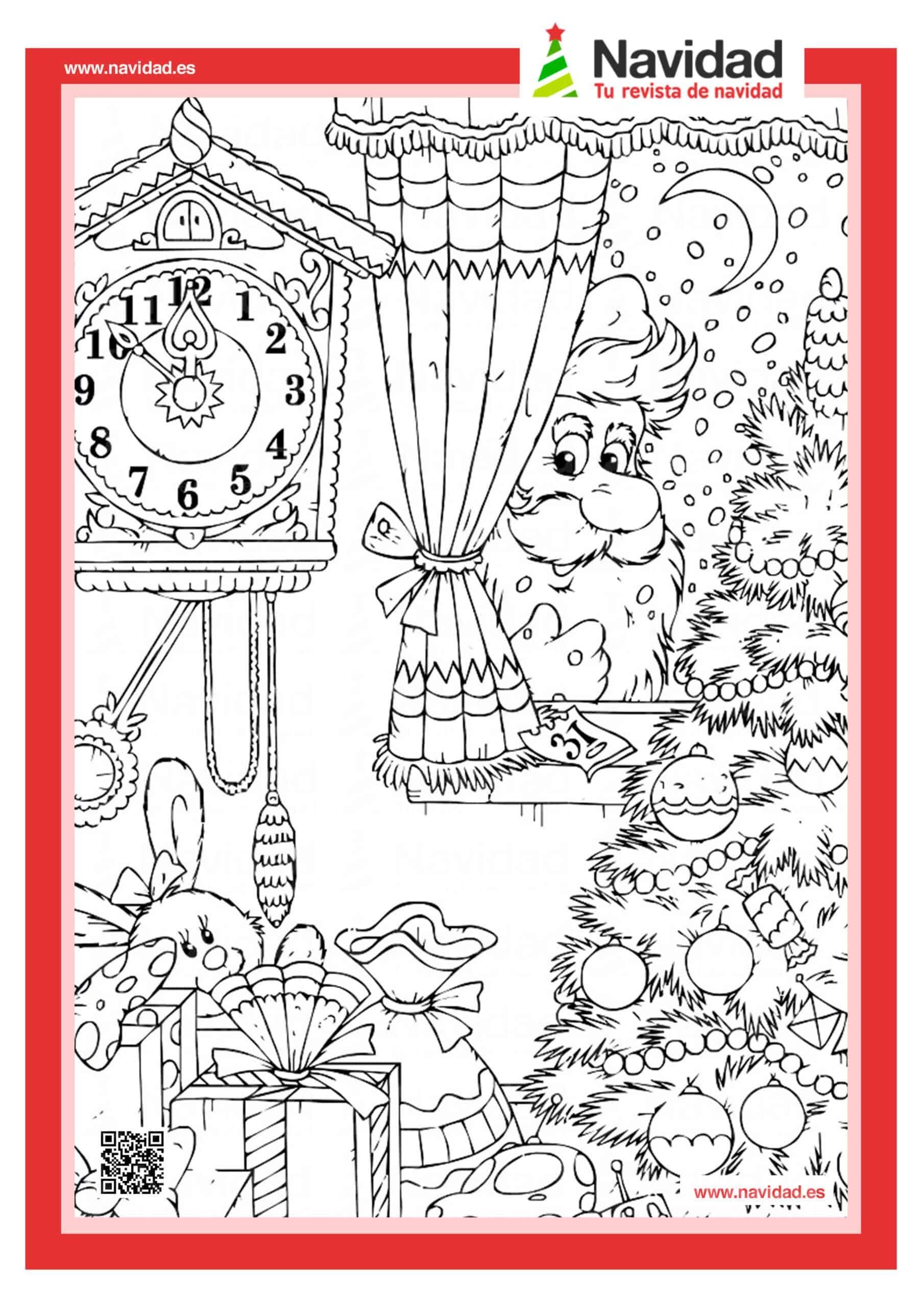 10 dibujos de Papá Noel para colorear con los más pequeños de la casa 9