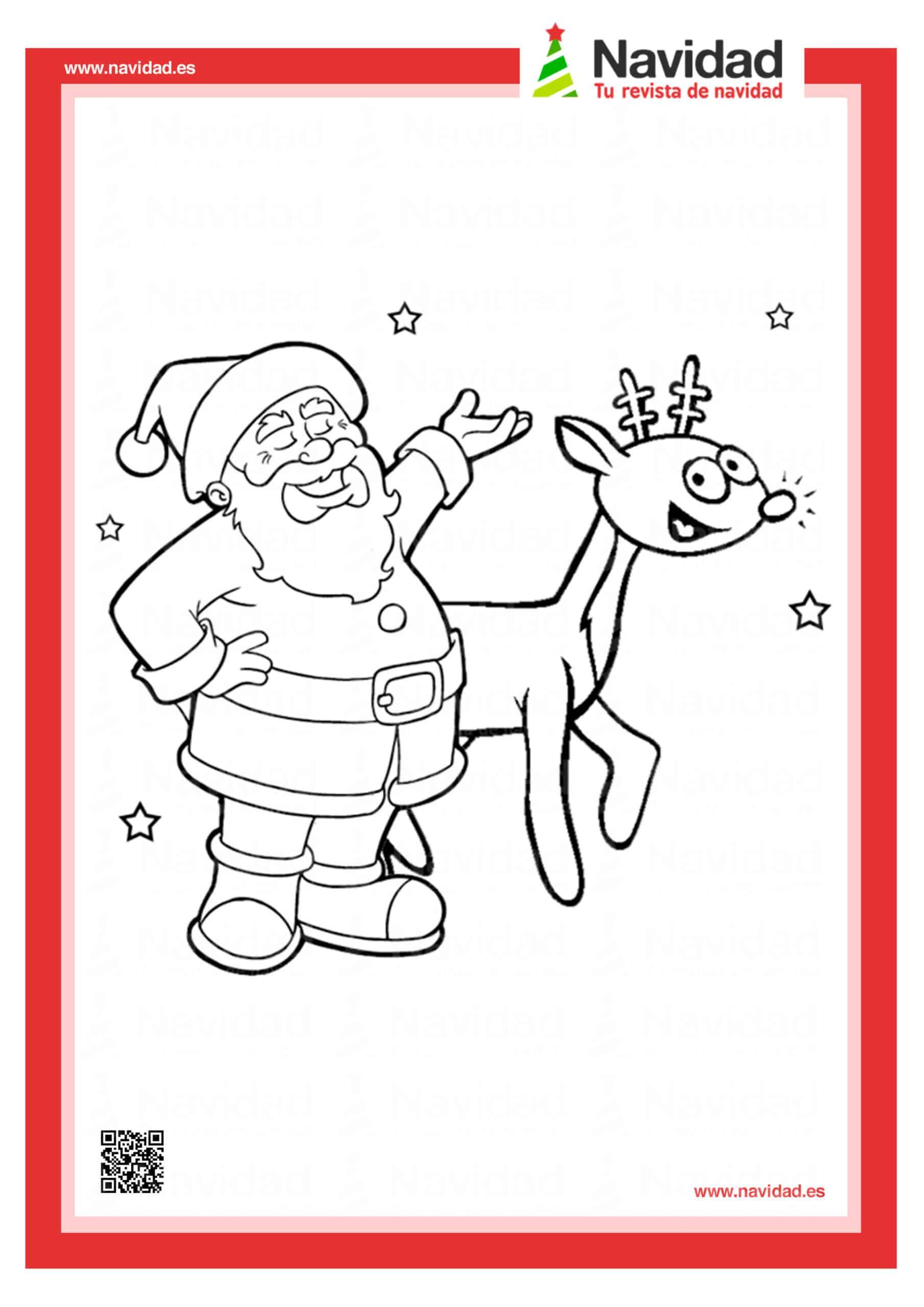 10 dibujos de Papá Noel para colorear con los más pequeños de la casa 7