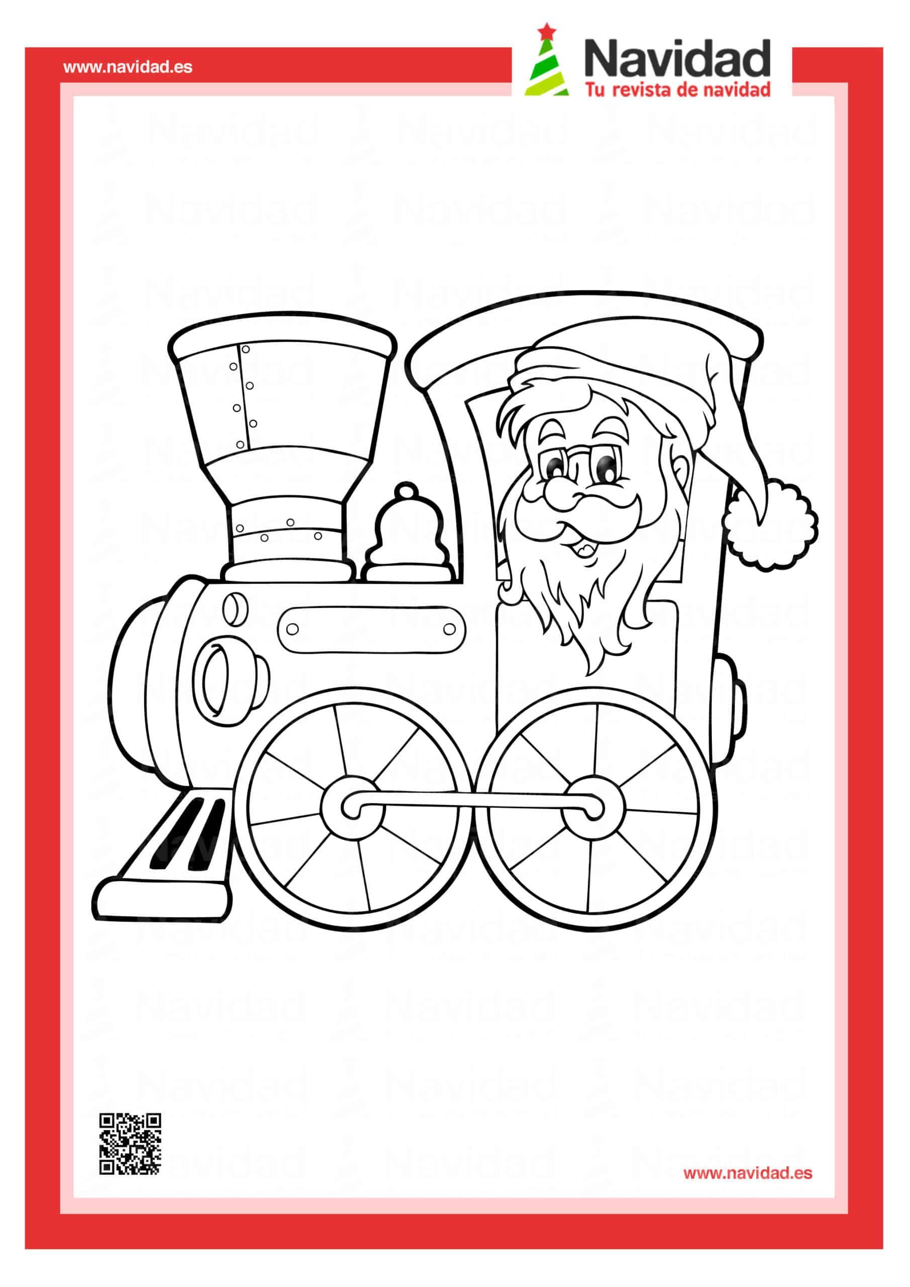 10 dibujos de Papá Noel para colorear con los más pequeños de la casa 6