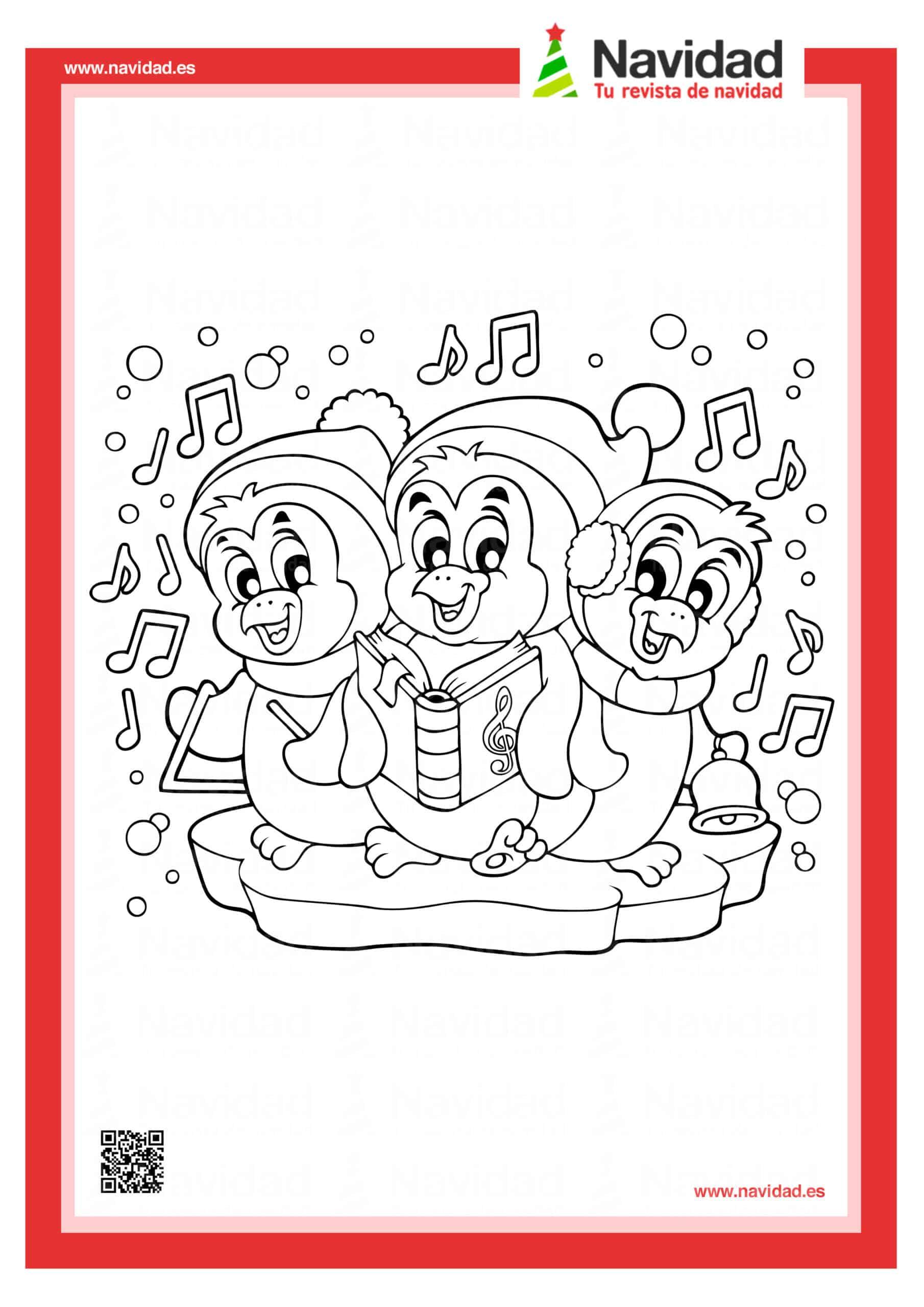 Dibujos navideños para colorear con los hijos esta Navidad 8