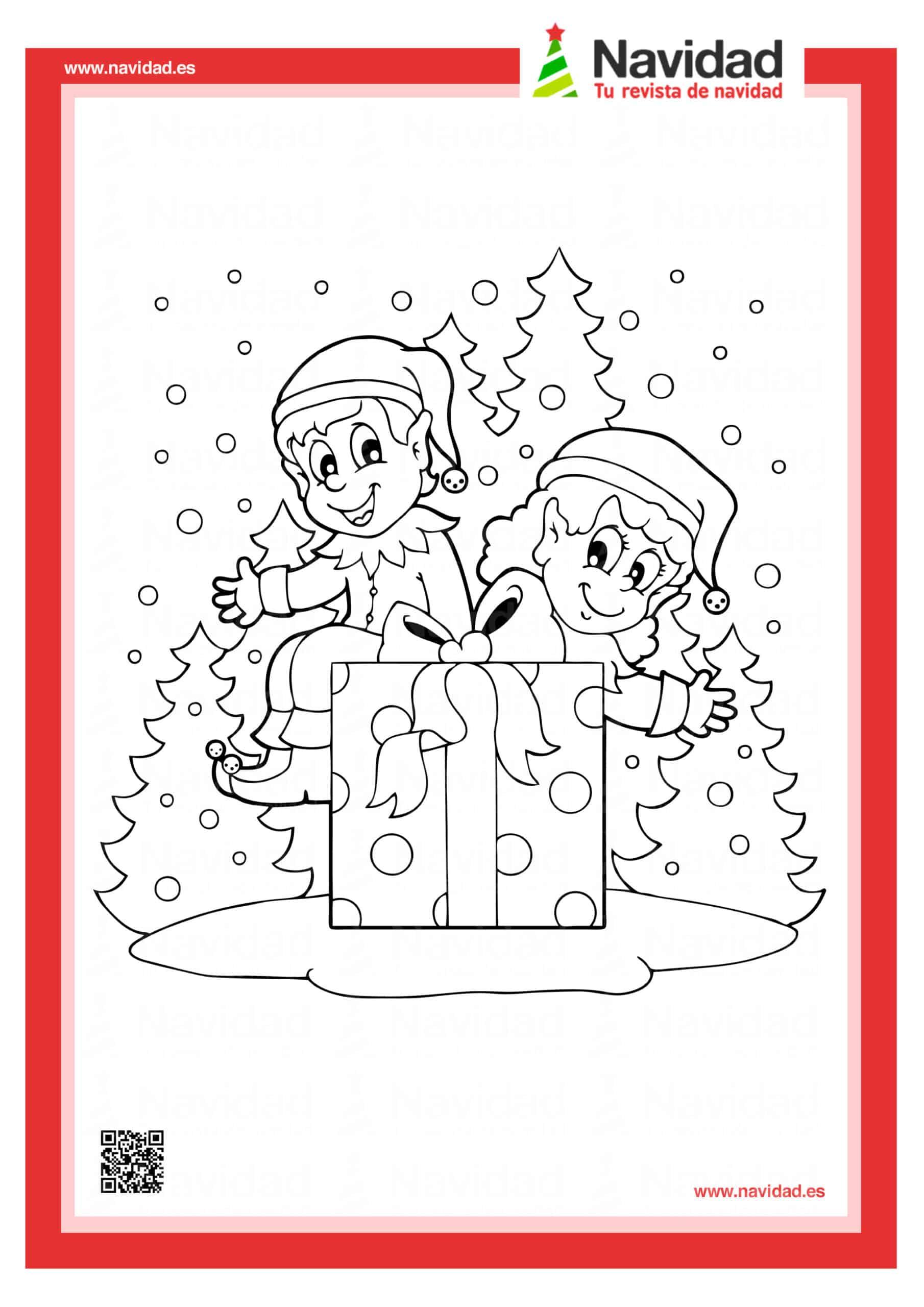 Dibujos navideños para colorear con los hijos esta Navidad 7