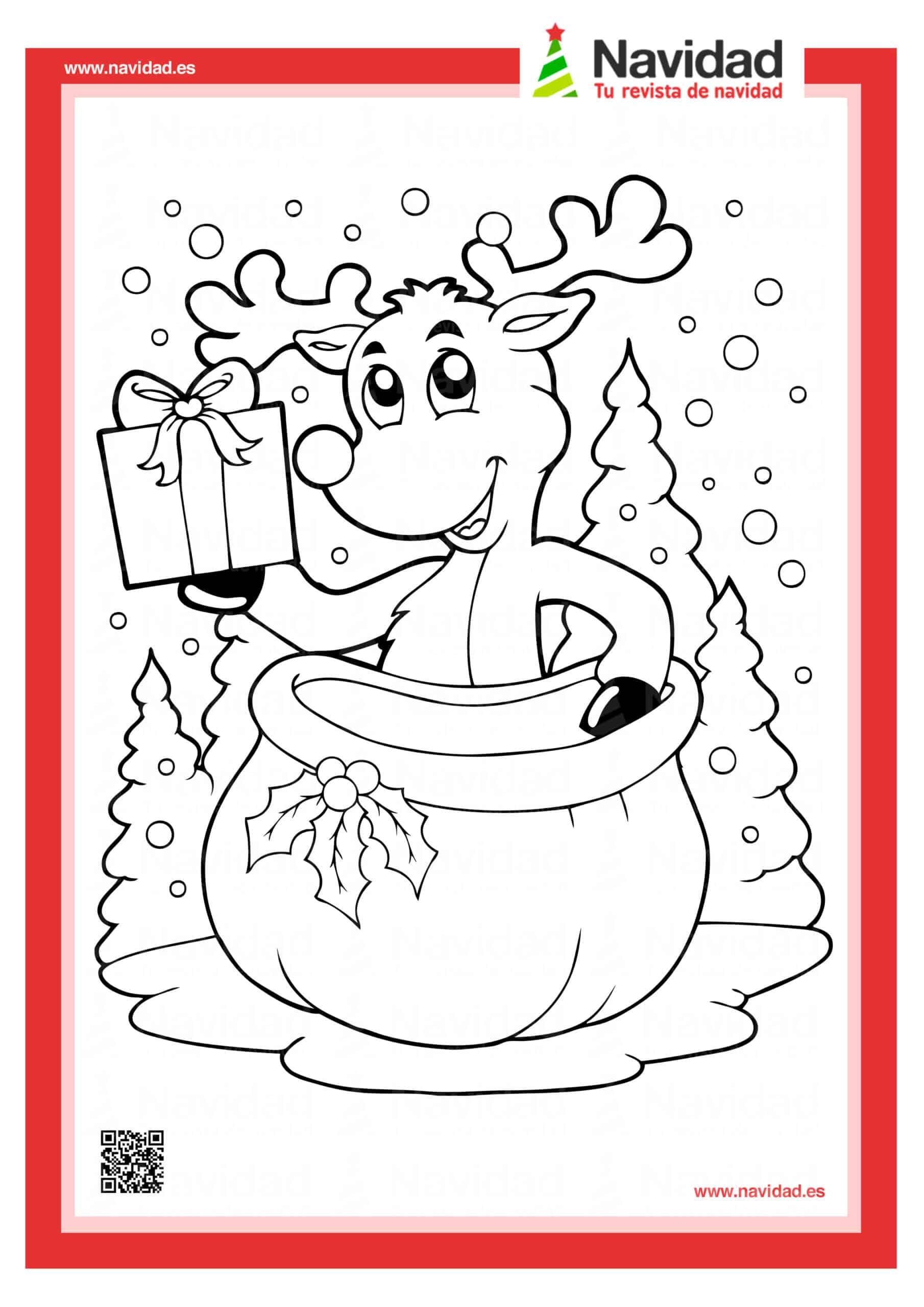 Dibujos navideños para colorear con los hijos esta Navidad 6