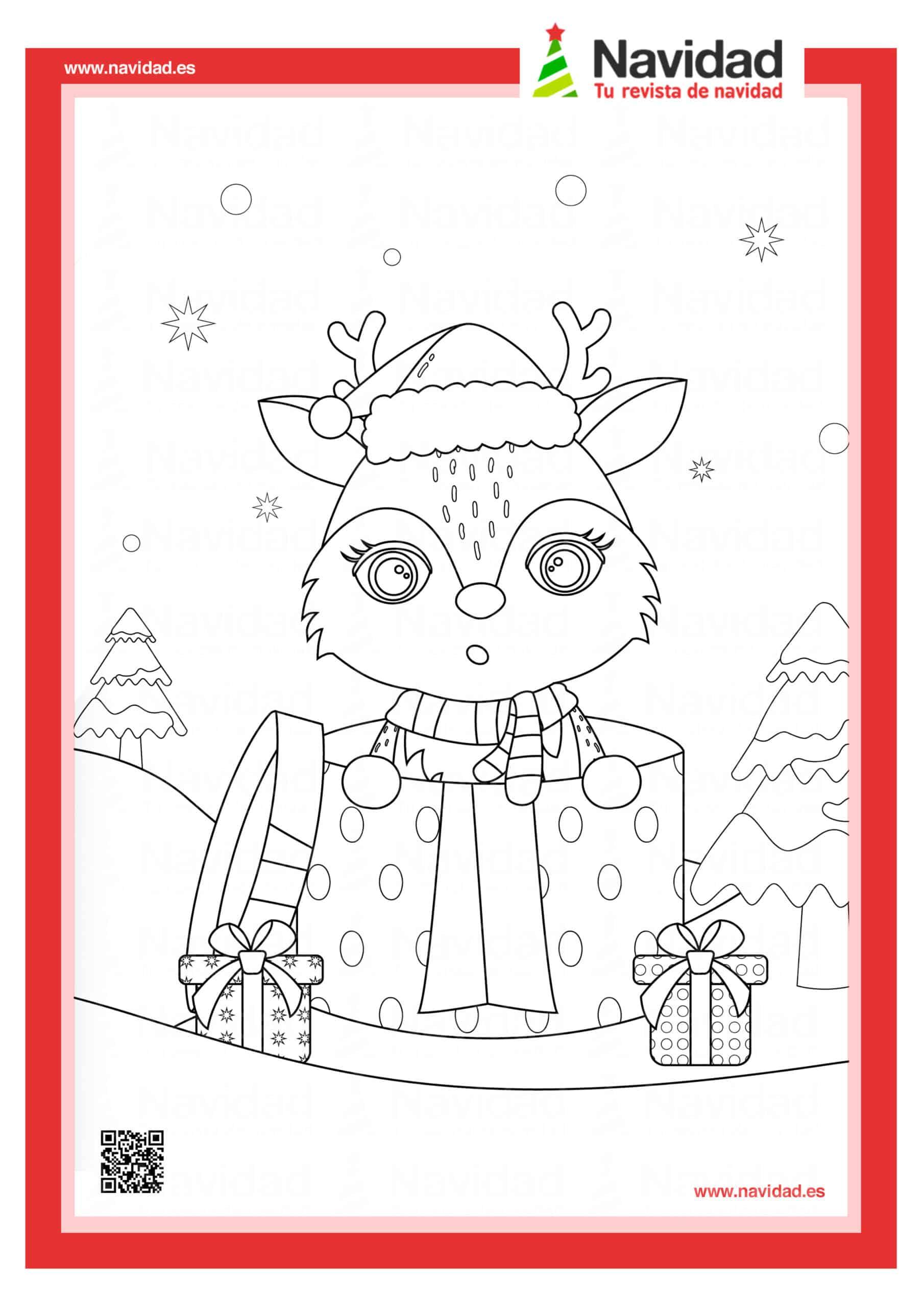Dibujos navideños para colorear con los hijos esta Navidad 5
