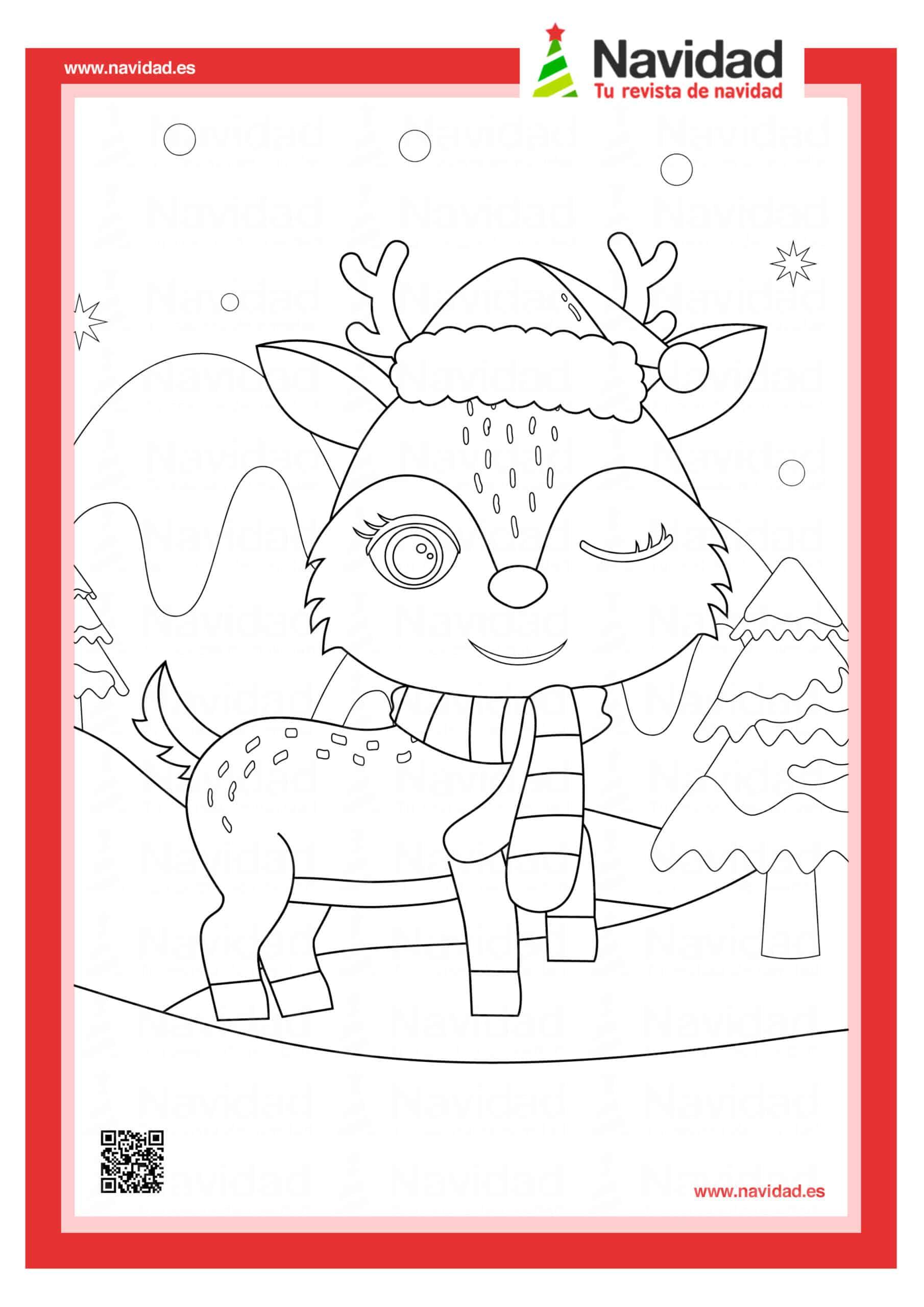 10 dibujos de Papá Noel para colorear con los más pequeños de la casa 5
