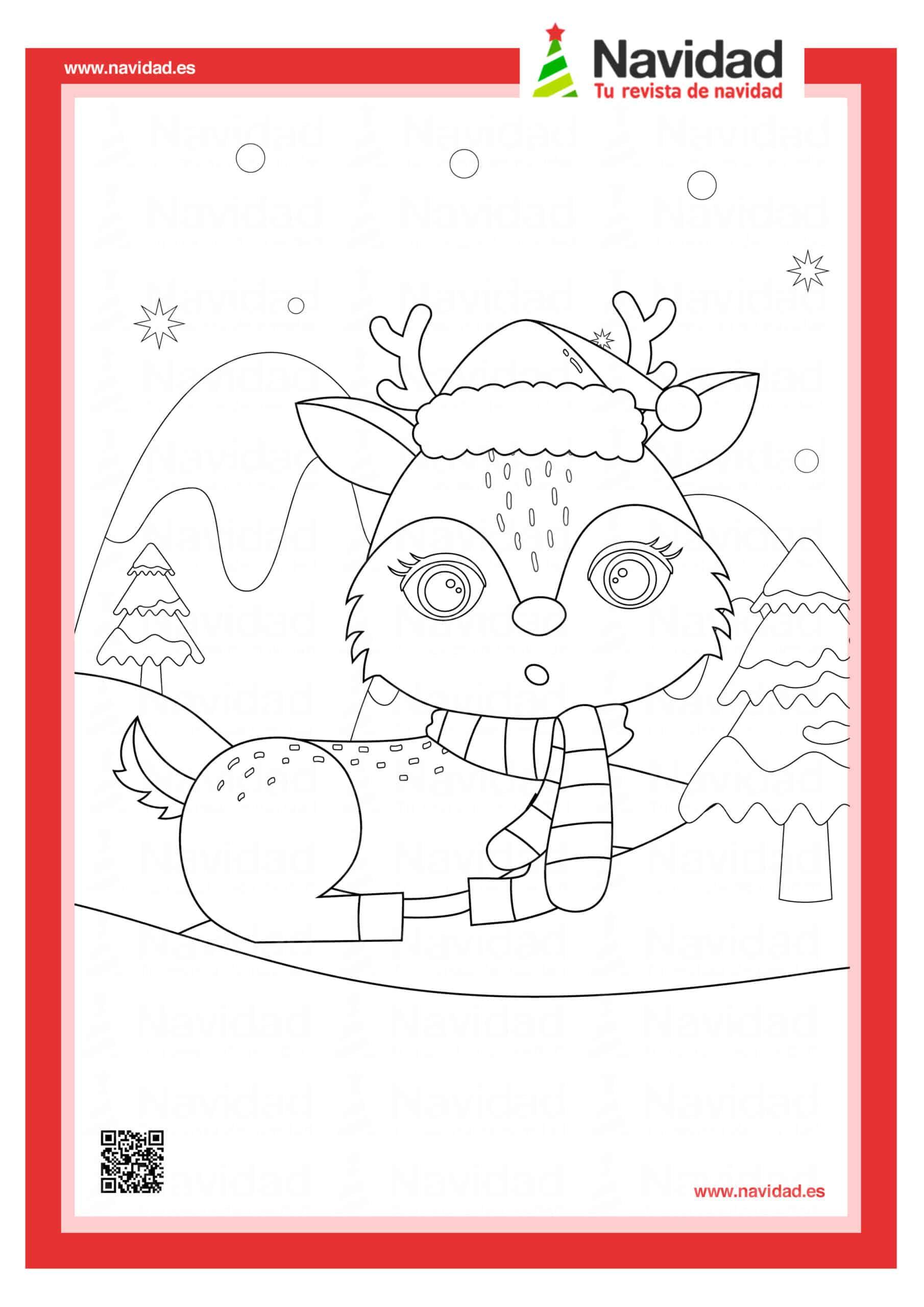 Dibujos navideños para colorear con los hijos esta Navidad 4
