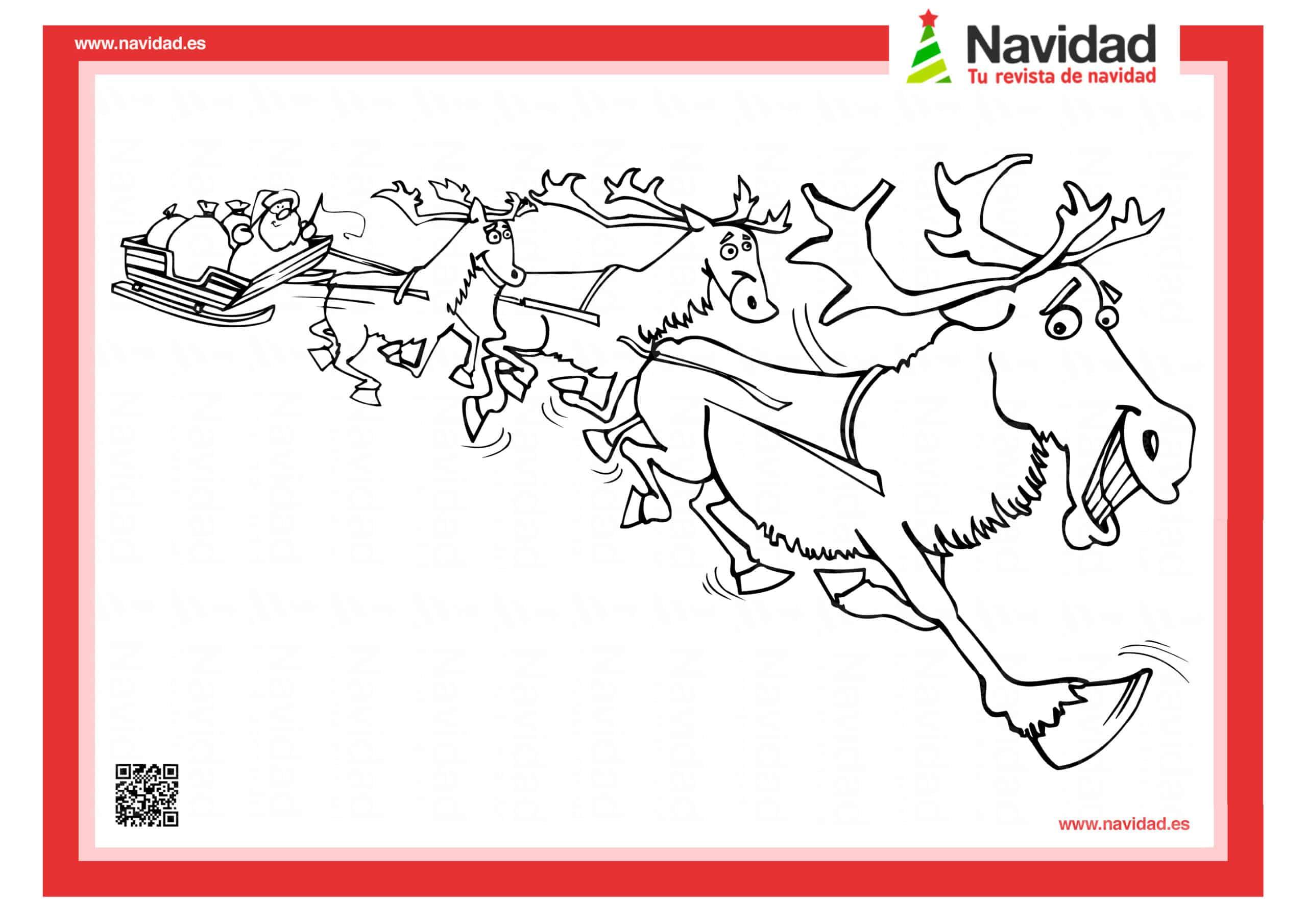 10 dibujos de Papá Noel para colorear con los más pequeños de la casa 4