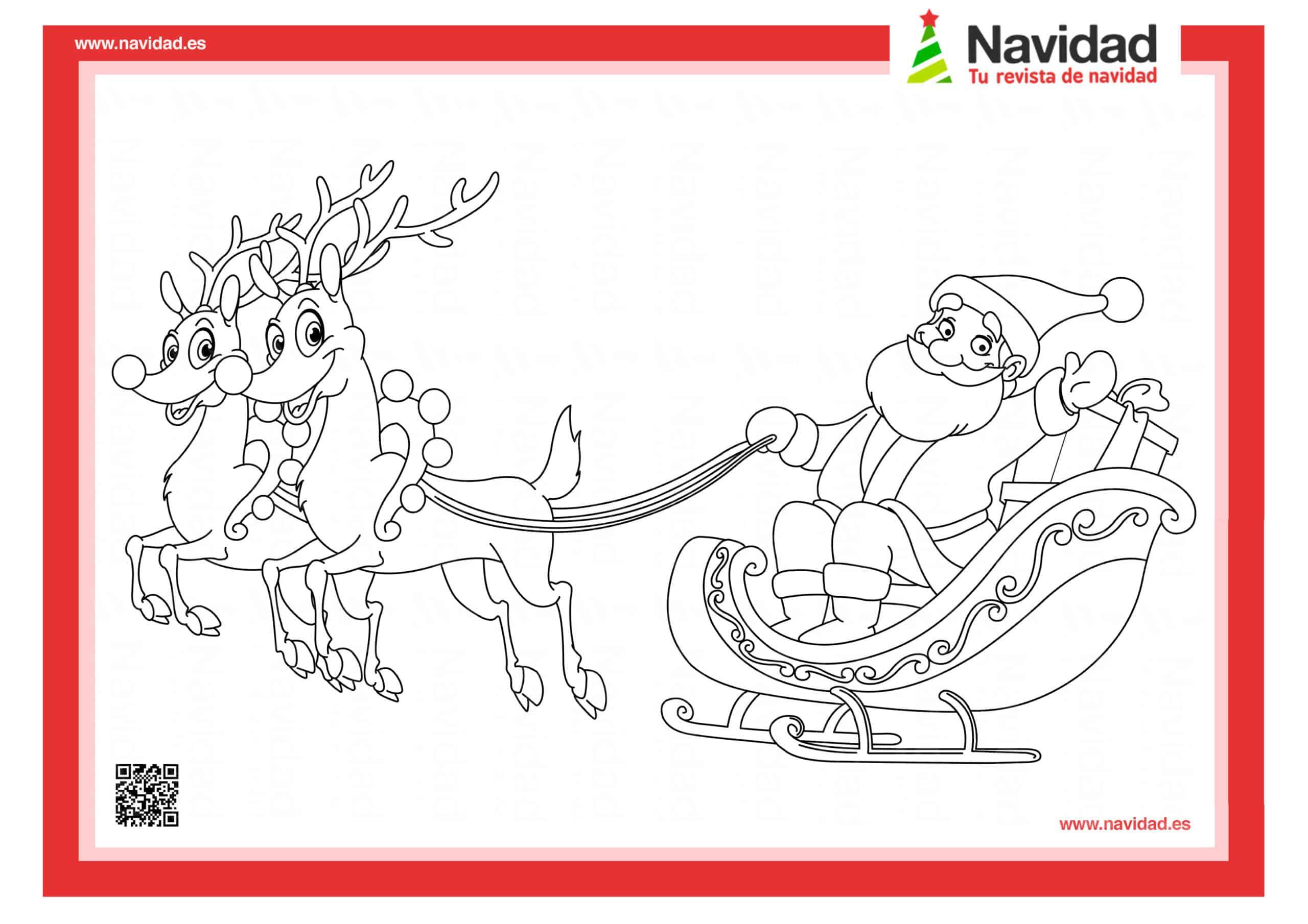 10 dibujos de Papá Noel para colorear con los más pequeños de la casa 3