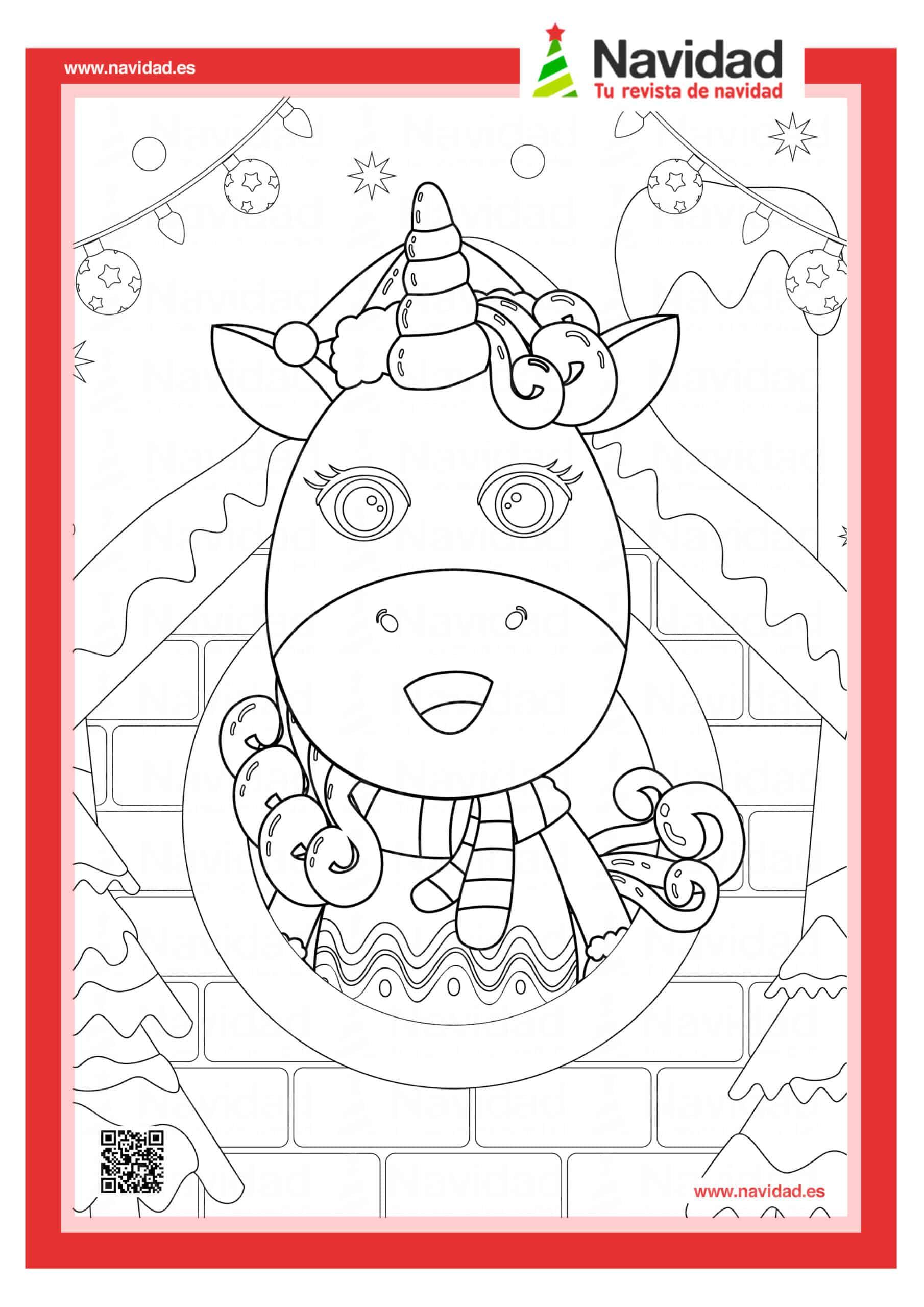 Dibujos navideños para colorear con los hijos esta Navidad 3