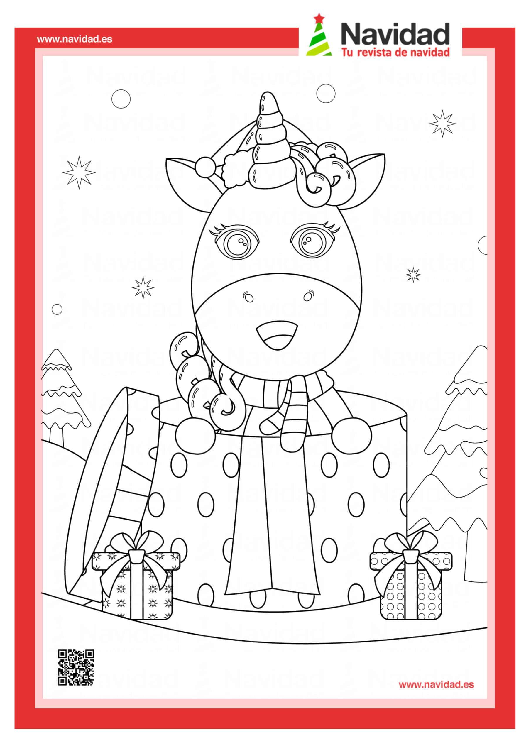Dibujos navideños para colorear con los hijos esta Navidad 2