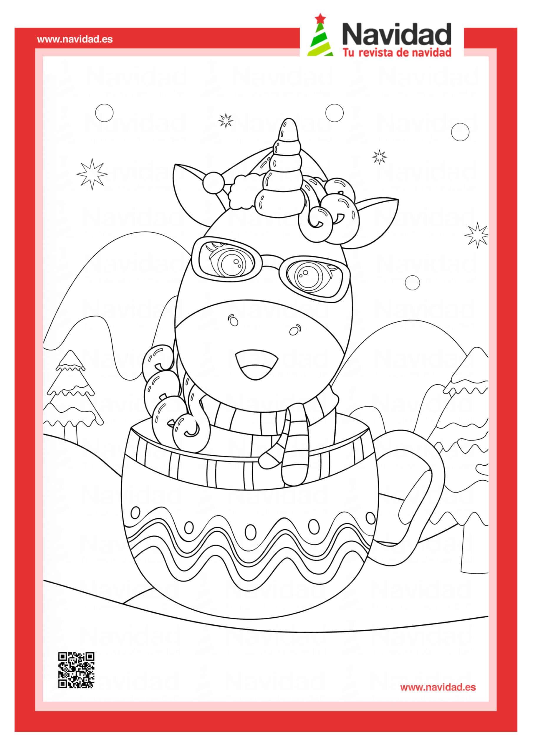 Dibujos navideños para colorear con los hijos esta Navidad 1