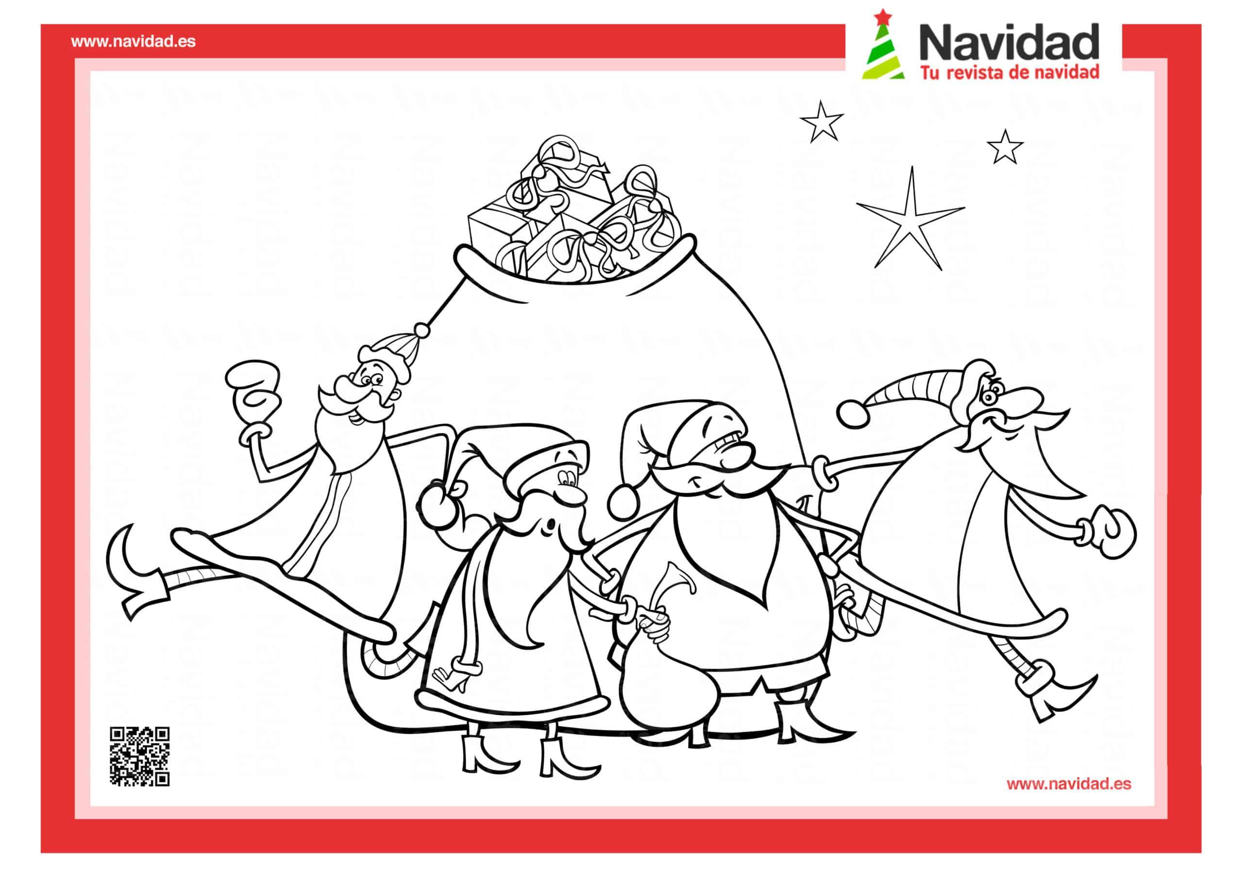 10 dibujos de Papá Noel para colorear con los más pequeños de la casa 2