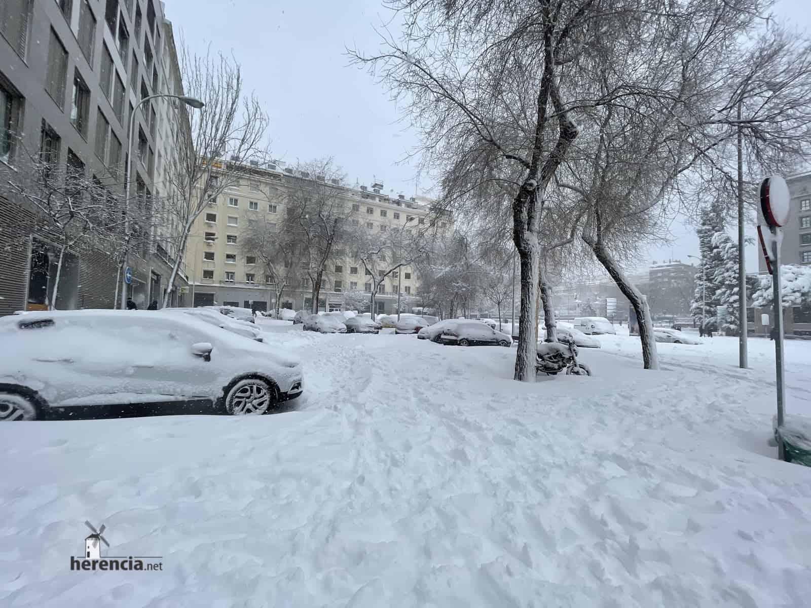 Fotografías de la nevada de enero en Madrid (España) 202